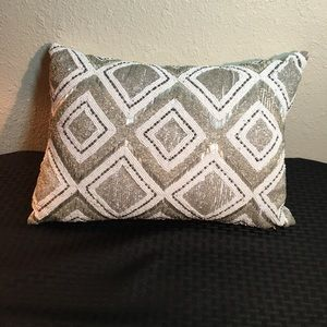 Hotel Collection beaded decorative pillow.